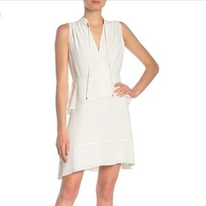 NWT Derek Crosby Belted Dress with Tiered Skirt
